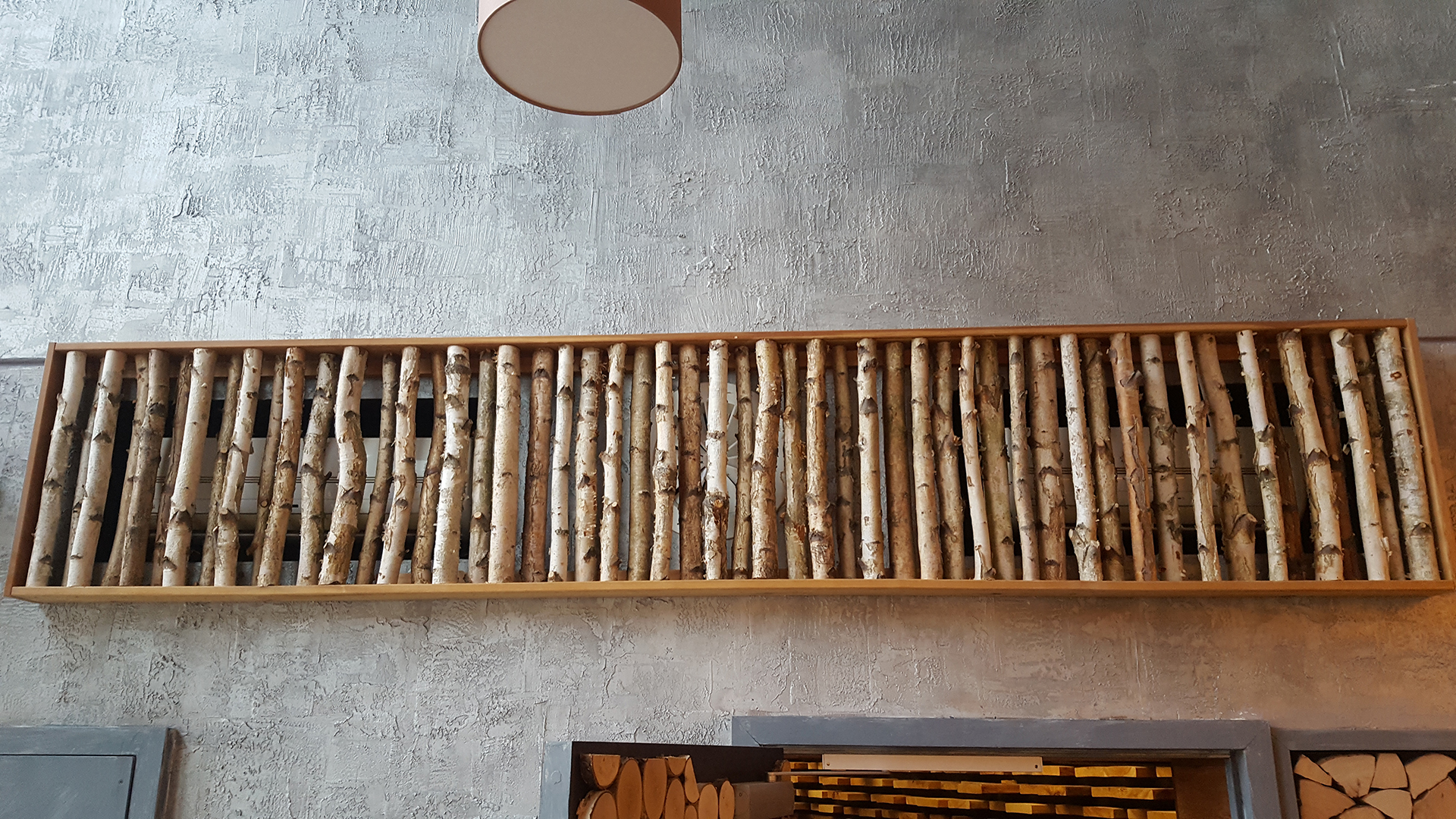 Birken dekorativ aufgehängt