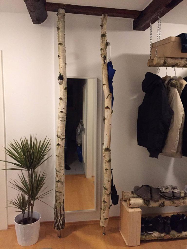 Birkenstämme Garderobe
